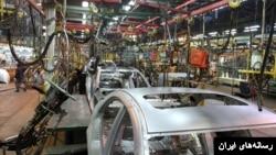 نمایی از یک کارخانه خودروسازی در ایران