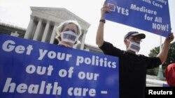 La decisión de la Corte Suprema sobre la reforma sanitaria se esperaba desde este lunes 25 de junio, y ya desde entonces las opiniones afloraban.