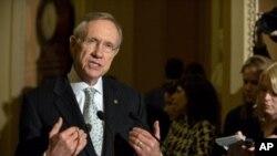 Lidè majorite demokrat nan Sena ameriken an, Harry Reid (foto achiv)