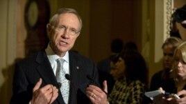 Lidè majorite demokrat nan Sena a, Harry Reid. Foto achiv