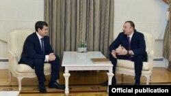 Prezident İlham Əliyev və Rusiya prezidentinin köməkçisi İqor Levitin
