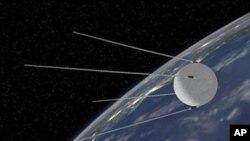 러시아가 발사한 세계 최초의 인공위성 '스푸트니크'