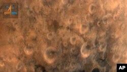 25일 화성 궤도 진입에 성공한 인도 화성탐사선 망갈리안이 전송한 사진의 일부. (자료사진)