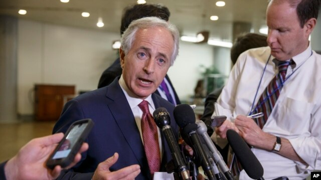 FILE - Senate Foreign Relations Committee Chairman Sen. Bob Corker, R-Tenn.
