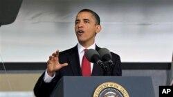 Predsjednik Barack Obama na jednom predizbornom skupu