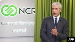 Predsednik Srbije Boris Tadić na otvaranju operativnog i informacionog centra kompanije NCR