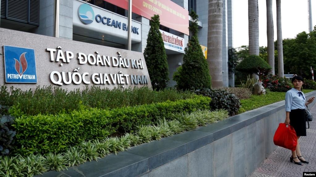 Tòa nhà Tập đoàn Dầu khí Quốc gia Việt Nam (PVN) tại Hà Nội. PVN là một trong số 8 công ty bị Mỹ tố cáo lên WTO.