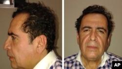 墨西哥总检察长办公室公布的拉耶瓦被捕后照片。