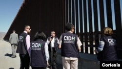 La Comisión Interamericana de Derechos Humanos (CIDH) inició el lunes 19 de agosto de 2019 una visita de trabajo a la frontera sur de Estados Unidos que concluye el viernes. Foto: Cortesía: CIDH.