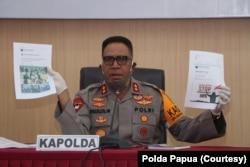 Kapolda Papua, Irjen Pol Paulus Waterpauw saat memberikan keterangan pers terkait penyerangan kelompok bersenjata, Selasa, 2 Juni 2020. (Foto: Polda Papua)