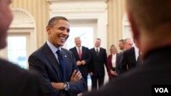 El presidente Obama, elogió a los estadounidenses de la NASA y los socorristas de las empresas privadas que ayudaron en Chile.