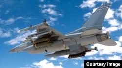 一架美國空軍F-16戰機正在進行AIM-9X導彈測試(資料照)