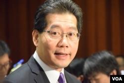 香港商務及經濟發展局局長蘇錦樑。(美國之音湯惠芸攝)