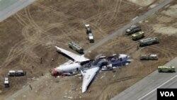 韓亞航波音777航班在舊金山機場降落時發生致命意外