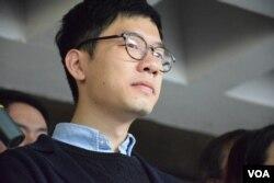 香港眾志立法會議員羅冠聰。(美國之音湯惠芸攝)