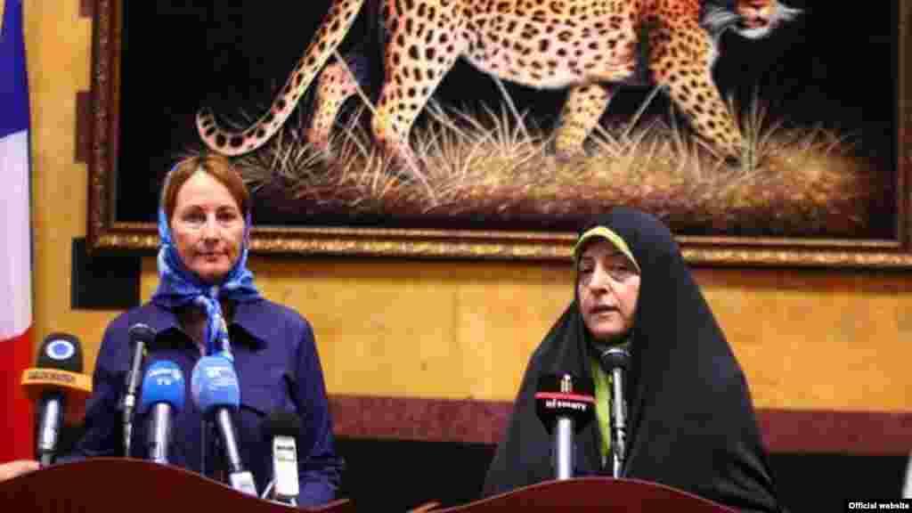 دیدار سگولن رویال وزیر محیط زیست فرانسه با ابتکار رئیس سازمان محیط زیست ایران در تهران
