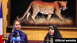 دیدار سگولن رویال وزیر محیط زیست فرانسه با معصومه ابتکار، رئیس سازمان محیط زیست ایران در تهران