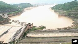 View of a hydropower dam