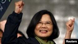 台湾民进党主席蔡英文当选台湾总统