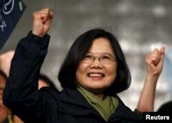 Tổng thống mới đắc cử của Đài Loan, bà Thái Anh Văn.