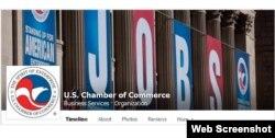 美国商会在脸书上的网页截屏