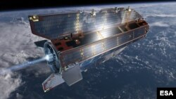 GOCE orbit is so low that it experiences drag from the outer edges of Earth's atmosphere. The satellite's streamline structure and use of electric propulsion system counteract atmospheric drag to ensure that the data are of true gravity. (ESA /AOES Media)