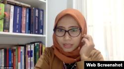 Maryati Abdullah dari PWYP Indonesia menekankan situasi COVID-19 adalah kesempatan memperbaiki tata kelola tambang batubara. (Tangkapan layar)