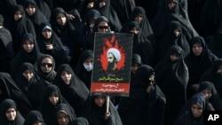 APTOPIX Mideast Iran Saudi Arabia Protest