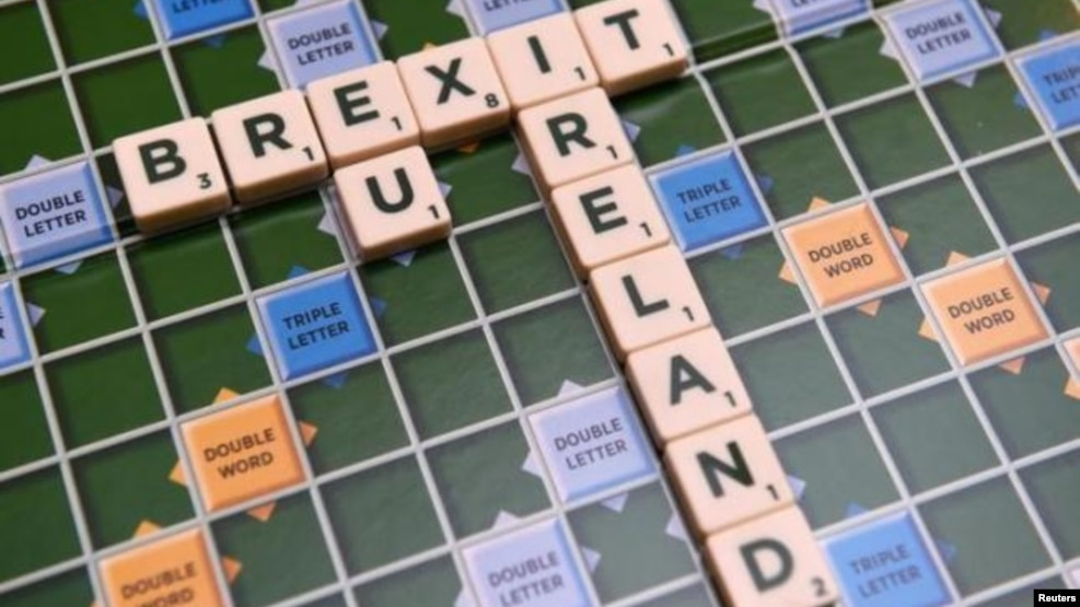 A scrabble board spells out Brexit in Dublin, Ireland on May 4 2016. (Reuters)