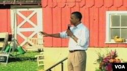 Predsjednik Barack Obama govori gradjanima Decorah u Iowa-i, 8. 15. 2011.