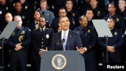 Prezident Obama Denverda politsiya akademiyasida so'zlamoqda, 3-aprel, 2013-yil.