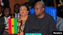 Ghana's President John Dramani Mahama attends the 43rd ECOWAS meeting in Abuja. (file)