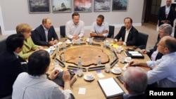 八國集團領導人會議呼籲盡快進行敘利亞和談