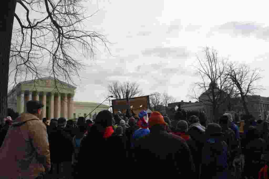 Según los organizadores, manifestaciones similares a la que sucedió en Washington, se realizaron en otras 130 ciudades en Estados Unidos.