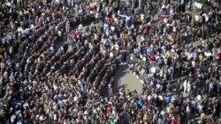 نمایی از میدان التحریر قاهره در روز یکشنبه