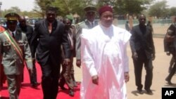 Le président nigérien Mahamoudou Issoufou lors de son investiture le 7 avril 2011.