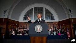 El presidente Obama habla en la Universidad de Cape Town, en Sudáfrica, en junio de este año.