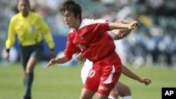 지난 2008년 뉴질랜드 17세이하 여자월드컵 결승전에 출전한 북한 선수. (자료 사진)