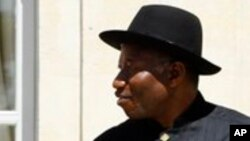 Shugaban Najeriya Goodluck Jonathan a wajen Taro kan Tsaro a Najeriya.