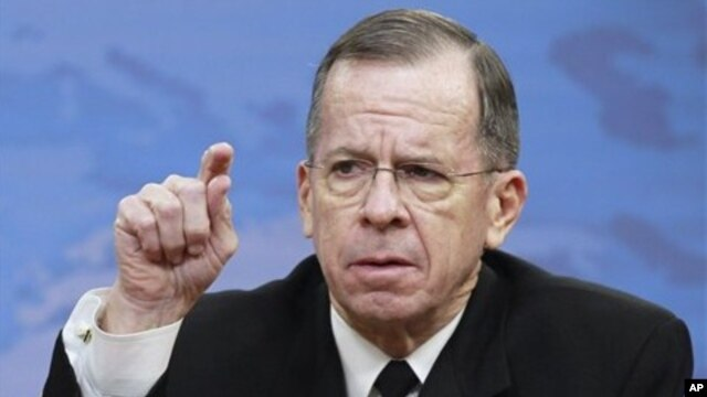 Chairman of the Joint Chiefs of Staff Admiral Michael Mullen (File Photo)