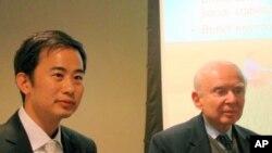 美国农村发展研究所的两名代表(左为朱可亮 右为罗伊.普罗斯特曼)