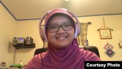 Shafiya Salahuddin, remaja 17 tahun berbagi kisah Al-Qur'an kepada anak-anak selama bulan Ramadan (dok: Shafiya)