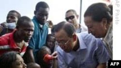 Tổng thư ký LHQ hứa nhanh chóng đưa hàng cứu trợ tới Haiti