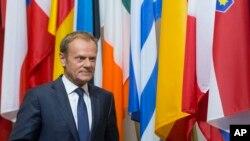 欧洲理事会主席图斯克(资料照片)