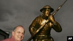 A doughboy statue at a studio in Loveland, Colorado