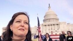 Brooke Storey, aktivistica Pokreta Čajanke na skupu ispred Kongresa