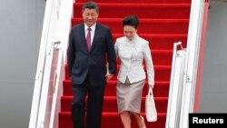6月29日中國國家主席習近平伉儷抵達香港慶祝香港主權移交20年。
