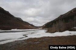 ທິວທັດ ຂອງແມ່ນນ້ຳ Braided ຢູ່ໃນສວນອຸດທະຍານແຫ່ງຊາດ Denali ທີ່ລັດ Alaska, ວັນທີ 10 ພຶດສະພາ 2017.