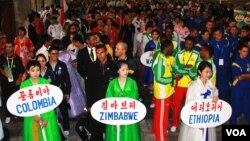 지난 2011년 평양에서 열린 제17차 태권도 세계선수권대회 개막식 (자료사진)