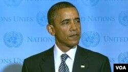 """Obama dijo que Estados Unidos será un """"amigo y socio"""" de Libia."""